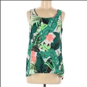 Express tropical ladder back cut out top XS